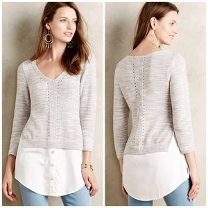 Anthropologie Moth Layer Tunic Sweater